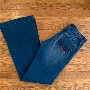 Vigoss Flare leg jeans with butterfly on pocket